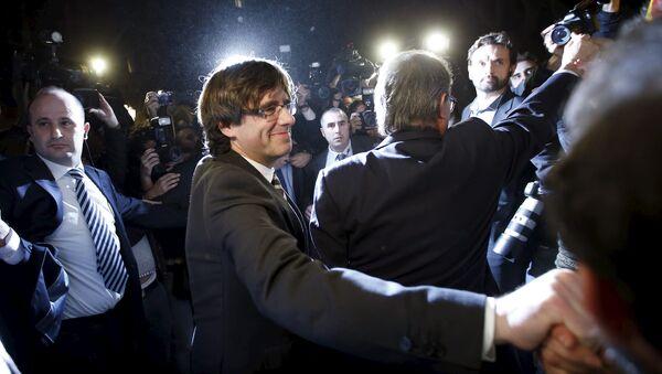 Carles Puigdemont, el presidente de Cataluña - Sputnik Mundo