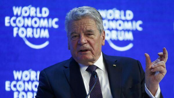 Presidente de Alemania, Joachim Gauck en el Foro Económico en Davos - Sputnik Mundo