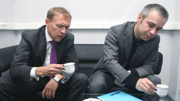 Andréi Lugovói y Dmitri Kovtún, empresarios rusos - Sputnik Mundo