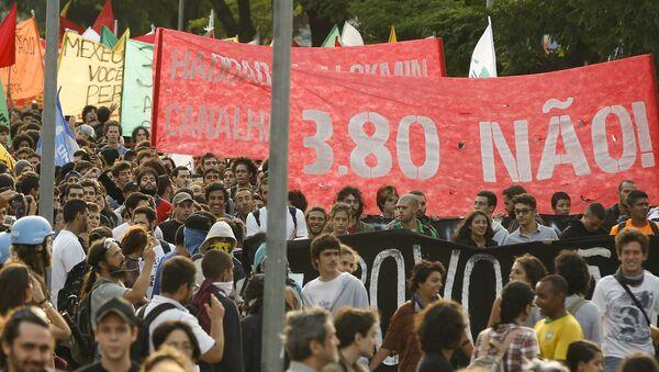 Manifestación en Sao Paulo, Brasil - Sputnik Mundo