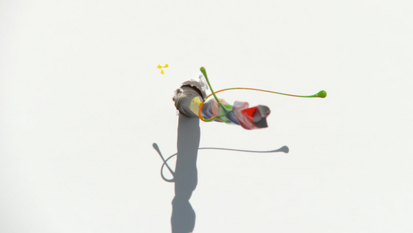 Una taladradora dispersa el tinte - Sputnik Mundo