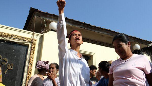 Los prisioneros liberados en el marco de un programa de amnistía en Birmania - Sputnik Mundo