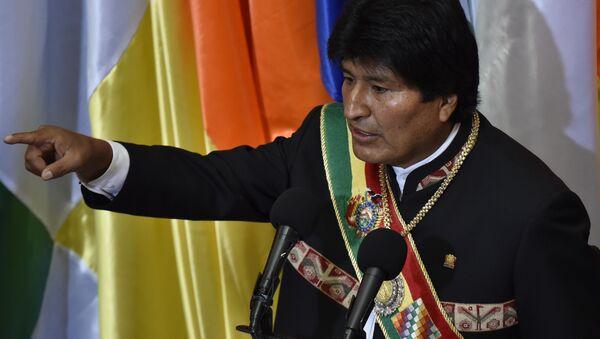 Evo Morales, presidente de Bolivia - Sputnik Mundo
