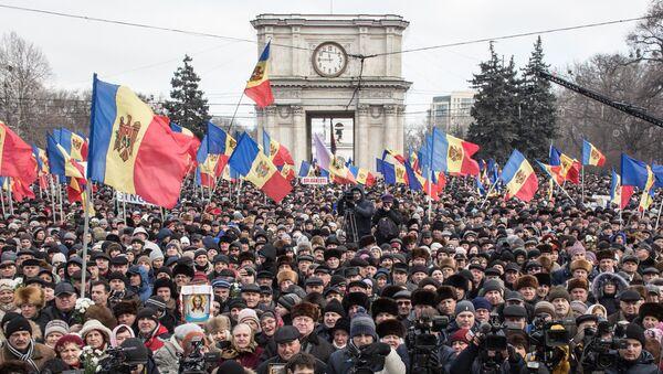 Manifestación antigubernamental en Moldavia - Sputnik Mundo