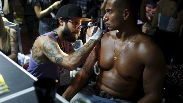 Evento de tatuaje Tatto Week Rio 2016 - Sputnik Mundo