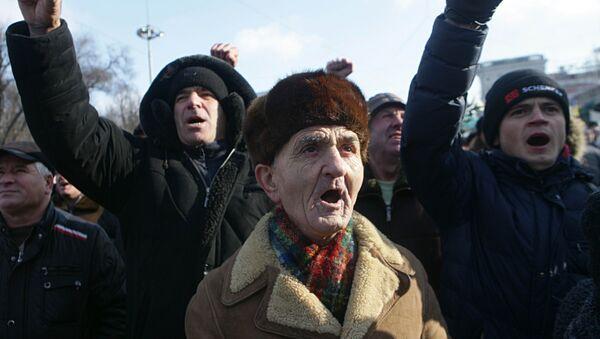 Protesta antigubernamental en Chisinau, Moldavia - Sputnik Mundo
