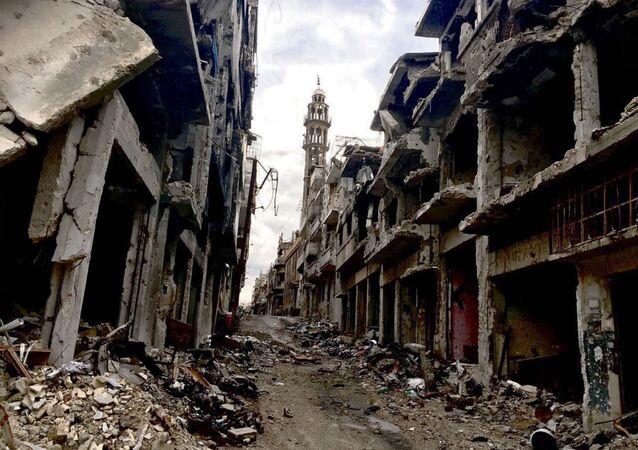 Situación en Homs, Siria (archivo)