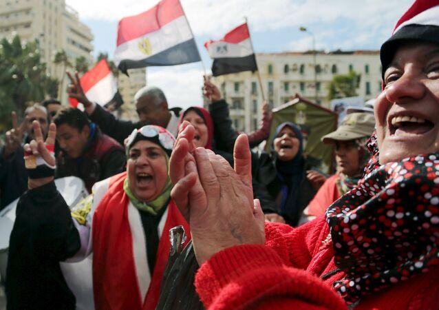 La manifestación en Egipto (archivo)