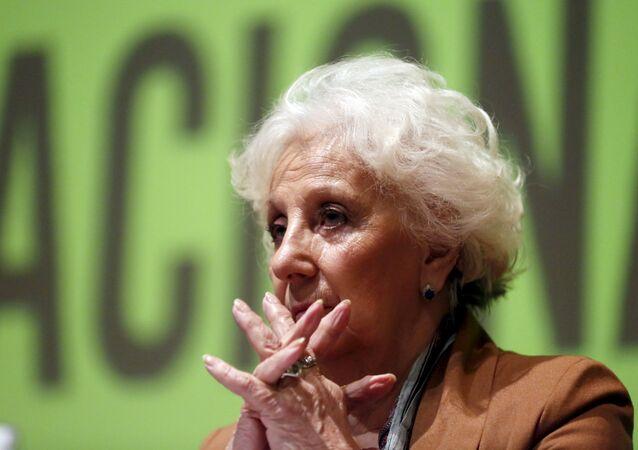 Estela de Carlotto, presidenta de la organización Abuelas de Plaza de Mayo