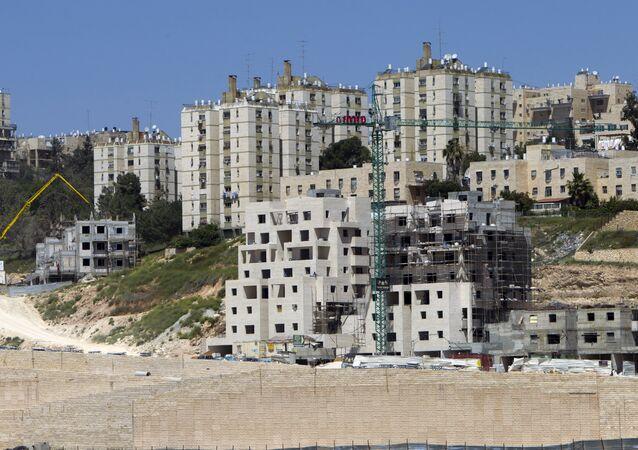 Construcción de viviendas en colonias judías (archivo)