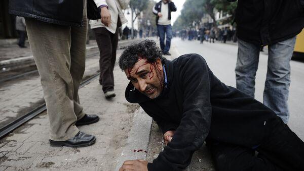 Disturbios en Túnez a principios de la Primavera Árabe - Sputnik Mundo