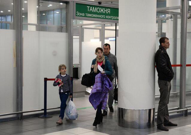 Pasajeros rusos en el aeropuerto de Vnúkovo