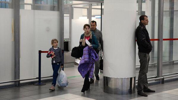 Pasajeros rusos en el aeropuerto de Vnúkovo - Sputnik Mundo