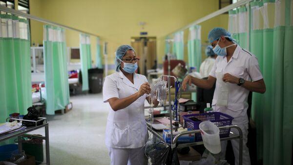 Los médicos en el Hospital Rosales en San Salvador, El Salvador - Sputnik Mundo