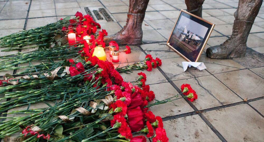 Homenaje al piloto del Su-24 derribado por Turquía