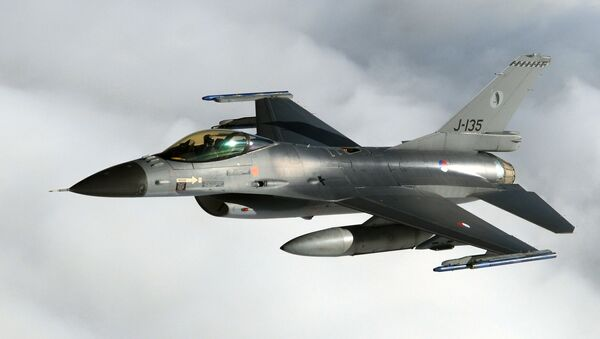 F-16 de la Fuerza Aérea de los Países Bajos - Sputnik Mundo