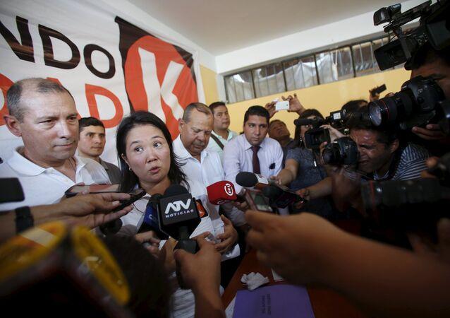 Keiko Fujimori, lideresa del partido Fuerza Popular