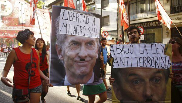 Manifestación de apoyo a Milagro Sala - Sputnik Mundo