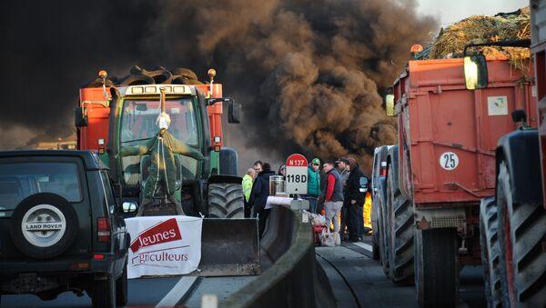 La protesta de los agricultores franceses - Sputnik Mundo