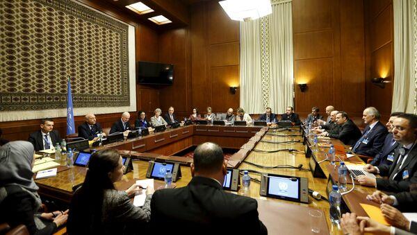 Consultas sobre Siria en Ginebra, Suiza (Archivo) - Sputnik Mundo
