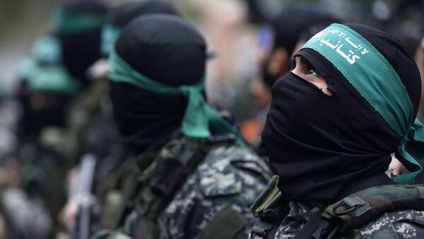 Militantes del movimiento Hamás - Sputnik Mundo