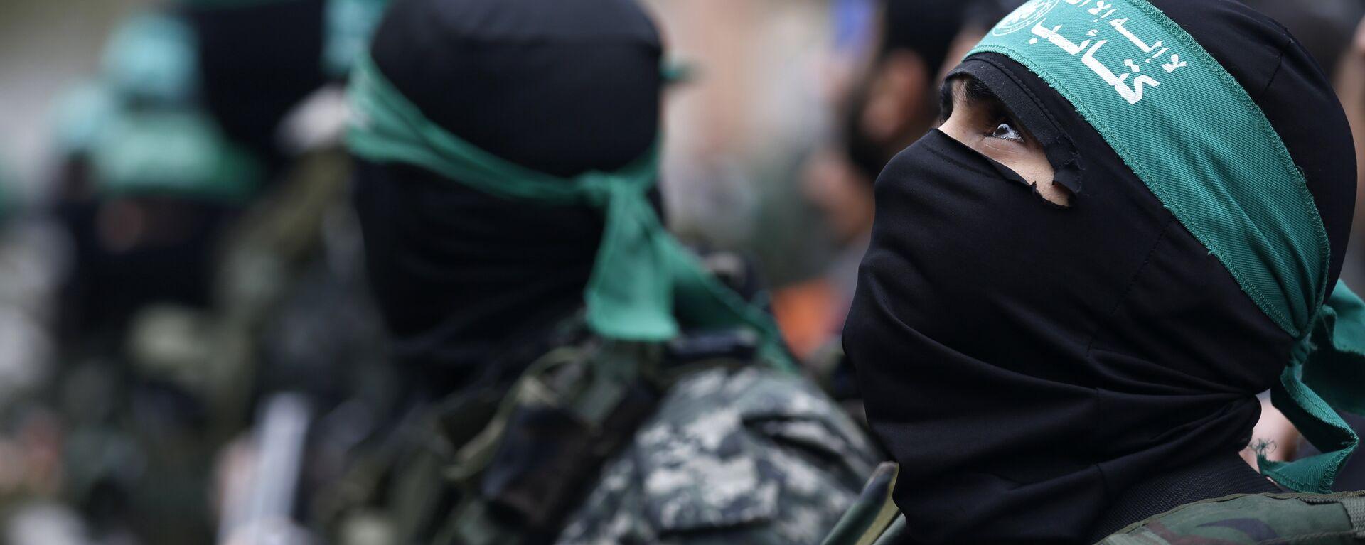 Militantes del movimiento Hamás - Sputnik Mundo, 1920, 05.09.2021