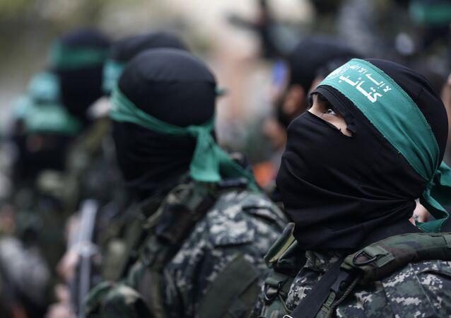 Militantes del movimiento Hamás (imagen referencial)