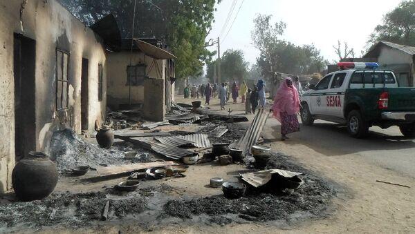 Lugar del atentado cometido por el grupo Boko Haram en Nugeria - Sputnik Mundo