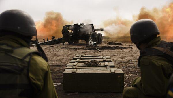 Ejército de Ucrania durante los ejercicios militares - Sputnik Mundo