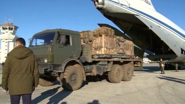 Ayuda humanitaria rusa para los habitantes de la ciudad Deir Ezzor (archivo) - Sputnik Mundo