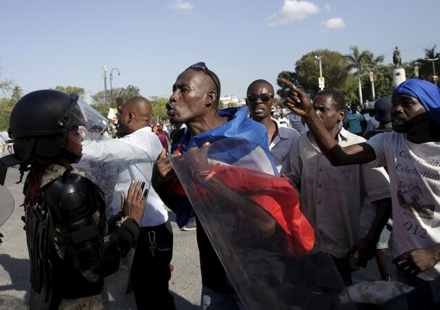 Protestas en Haití (Archivo)