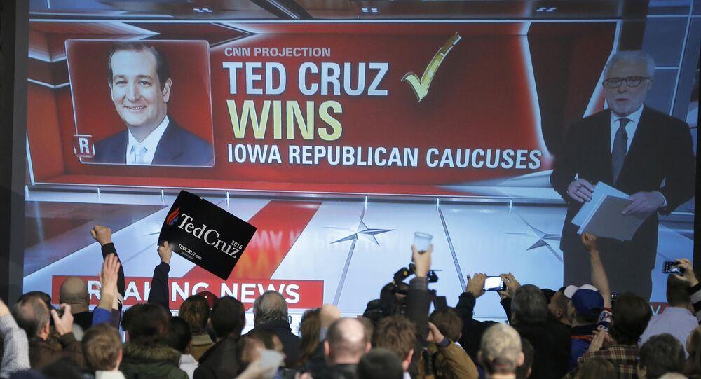 Ted Cruz gana las primeras primarias republicanas en Iowa