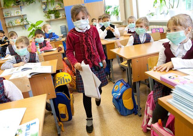 Prevención de gripe en una escuela de Yuzhno-Sakhalinsk