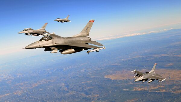 U.S. Air Force F-16 Fighting Falcons - Sputnik Mundo