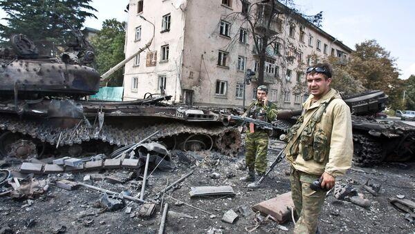 Las calles de Tsjinval tras operación militar (archivo) - Sputnik Mundo
