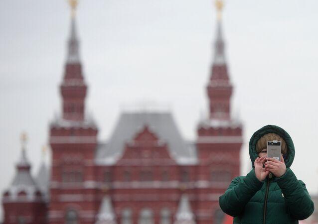 Turistas en Moscú