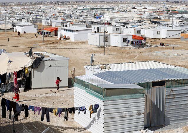 Campo de refugiados sirios en Jordania (archivo)