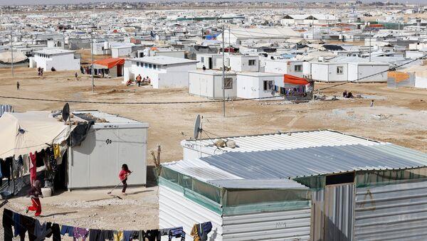 Campo de refugiados en Jordania (archivo) - Sputnik Mundo