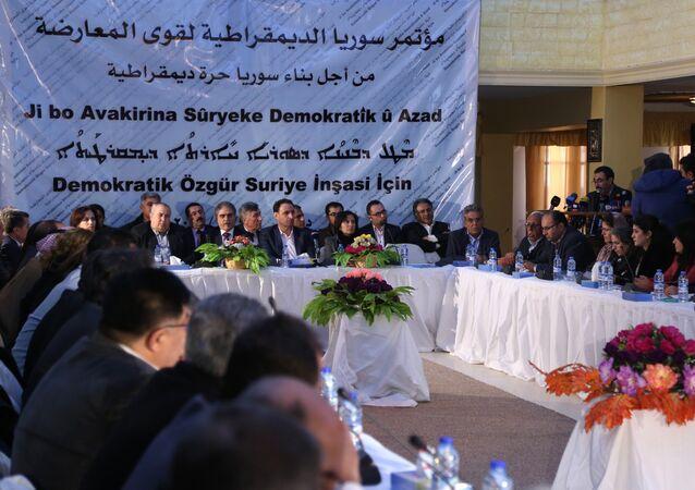 Reunión de las fuerzas kurdas de Siria en Al Malikiyeh