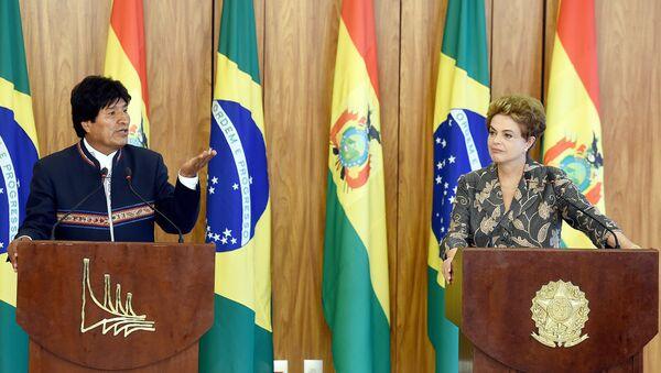 Presidente de Bolivia, Evo Morales y presidenta de Brasil, Dilma Rousseff - Sputnik Mundo