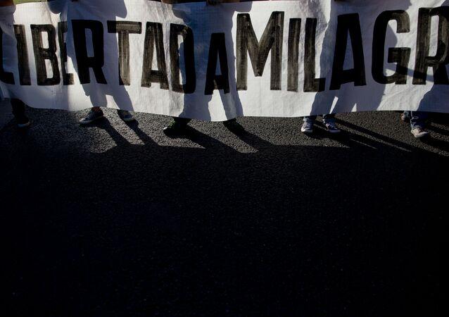 Dirigente social argentina Milagro Sala estudia realizar huelga de hambre en la cárcel