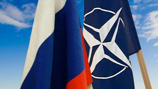 Las banderas de Rusia y la OTAN - Sputnik Mundo