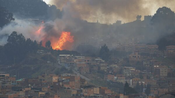 Bomberos de Bogotá controlan 85% de incendio en cerros de la ciudad - Sputnik Mundo