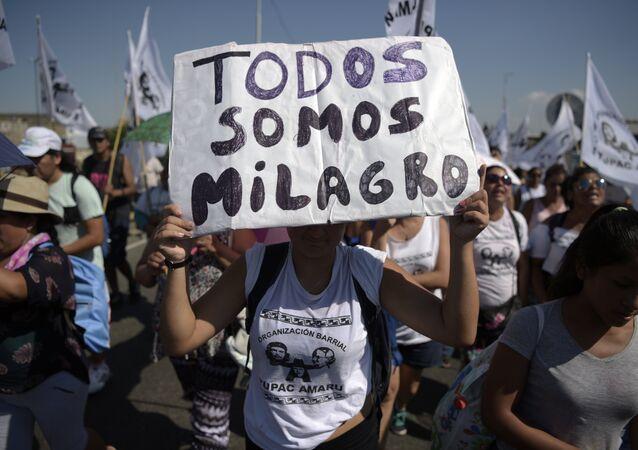 Activistas de Tupac Amaru exigen liberación de Milagro Sala (archivo)