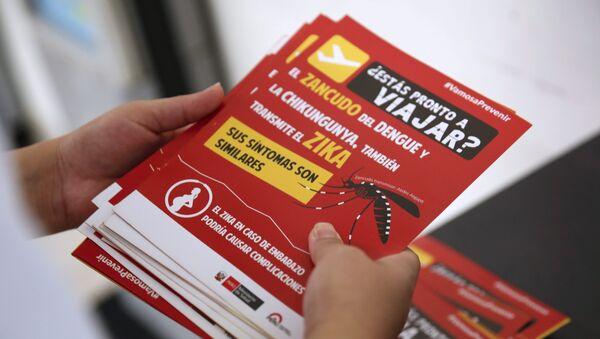 Información sobre el virus Zika para jos viajeros en Perú - Sputnik Mundo