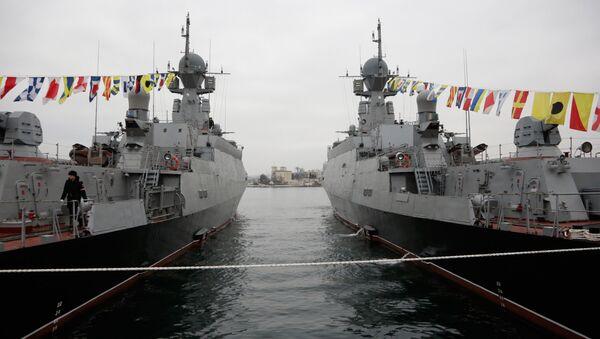 Buques lanzamisiles ligeros Zeleny Dol y Serpujov de la Flota rusa del mar Negro - Sputnik Mundo