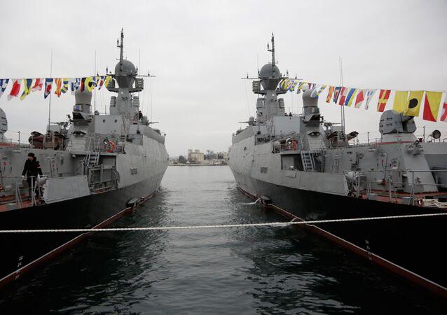 Buques lanzamisiles ligeros Zeleny Dol y Serpujov de la Flota rusa del mar Negro