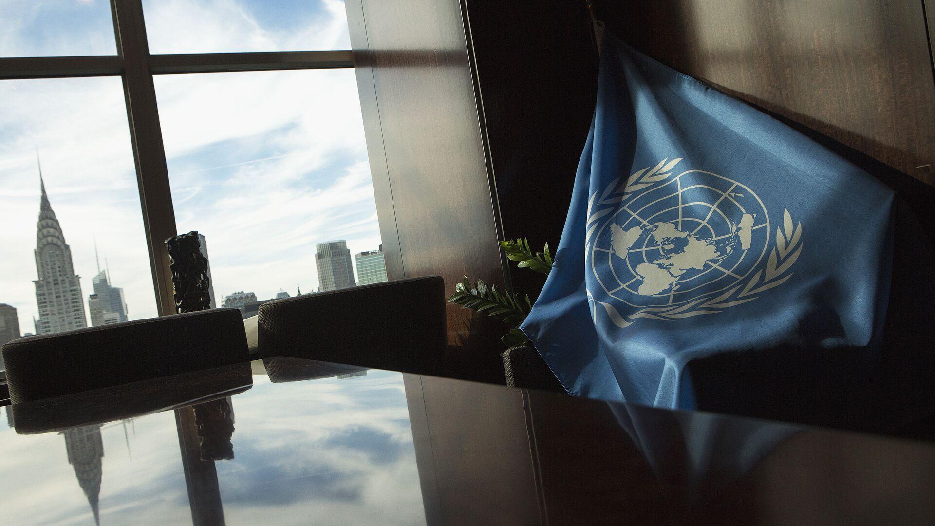 La bandera de la ONU en la sede de la entidad en Nueva York (archivo) - Sputnik Mundo, 1920, 18.02.2021