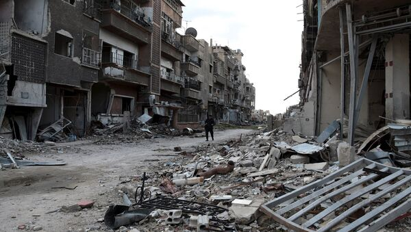 Barrios destruidos de la ciudad de Jobar, Siria (archivo) - Sputnik Mundo
