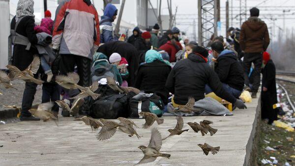 Refugiados en Macedonia - Sputnik Mundo